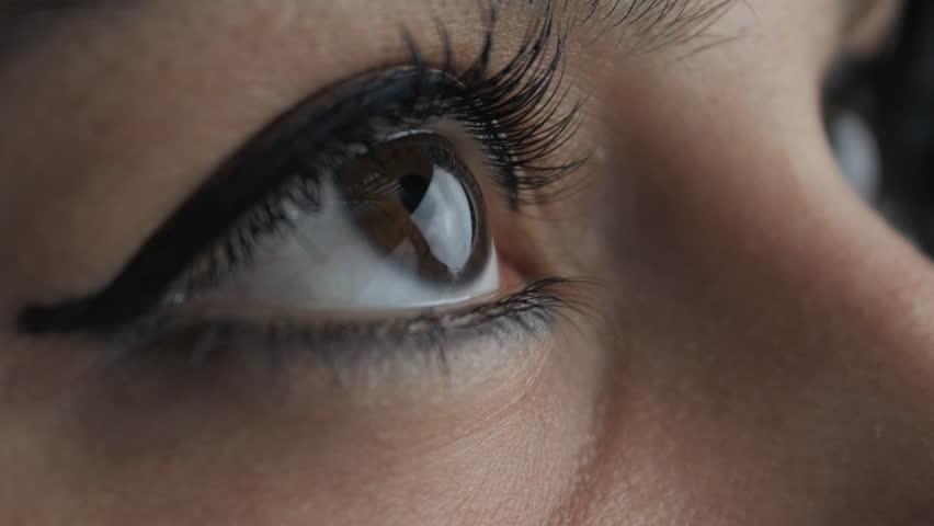 Big close up op oog